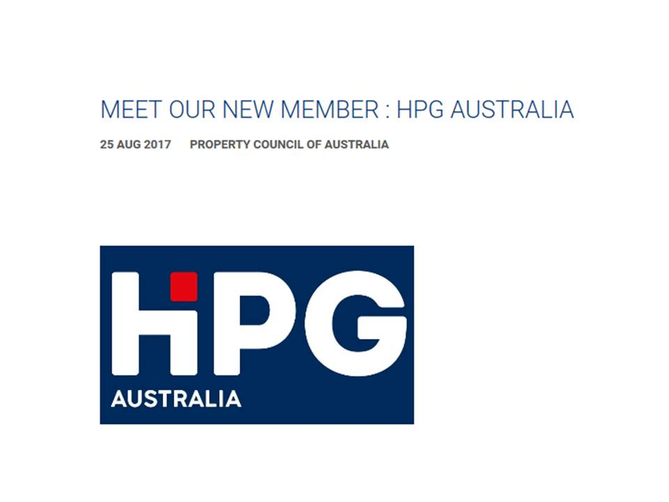 HPG Australia joins Property Council of Australia