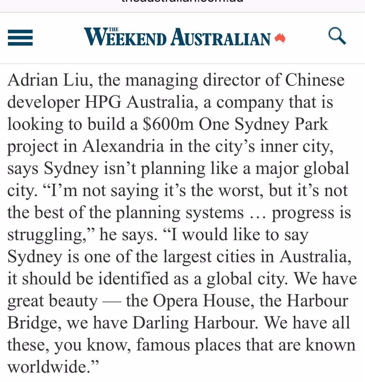 Being part of a changing Sydney