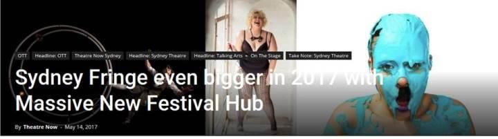#Festival Hub 2017, #HPG+SydneyFringe, #Can't Wait! …